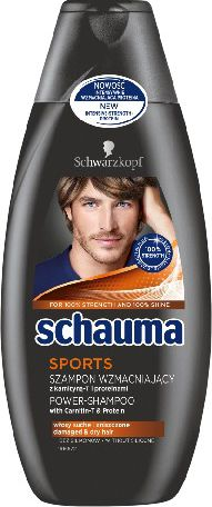 Schauma Sports For Men Hair Shampoo 400ml Matu šampūns