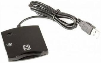 Smart card (Personal ID card with chip)  reader, grey, external karšu lasītājs