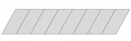 Dedra Ostrza odlamywane 18mm 10szt. (M9021) M9021