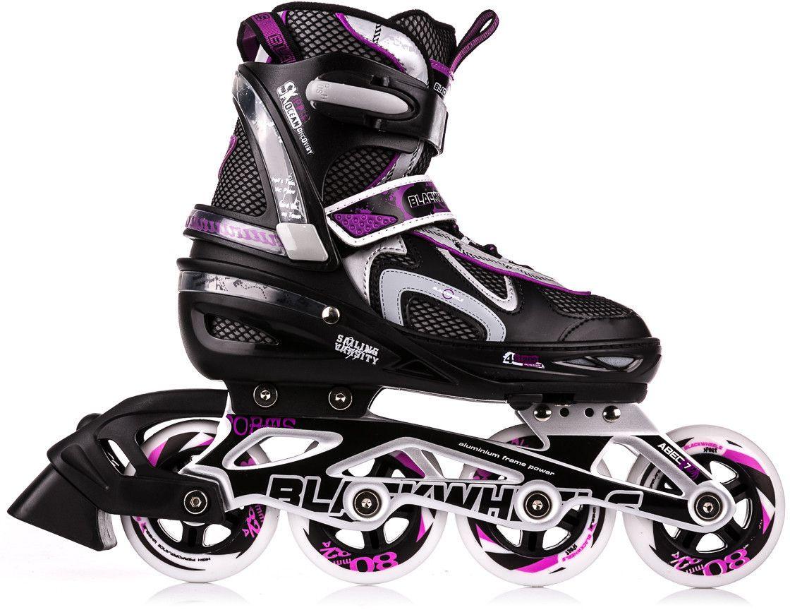 Blackwheels Flex Black / Purple Adjustable Rollers. 35-38 Skrituļslidas