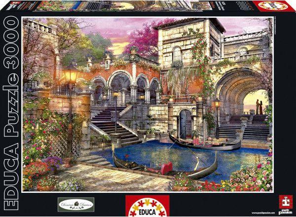 Educa Puzzle 3 000 pieces Romantic Venice puzle, puzzle