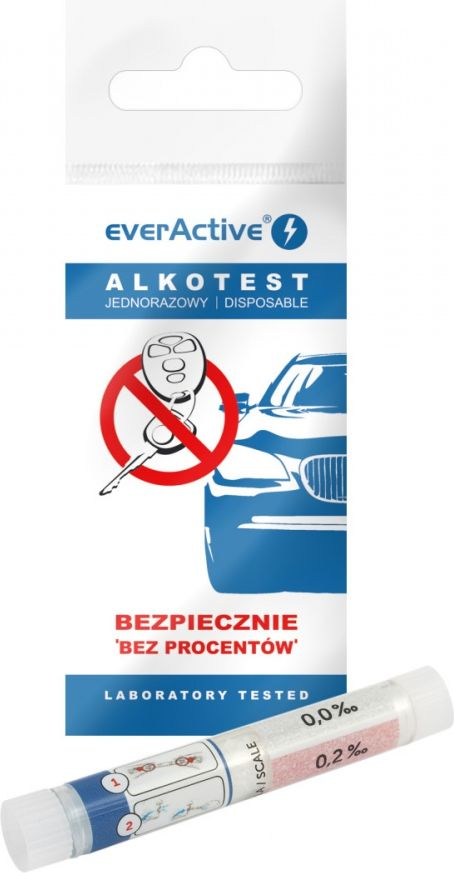 Alkomat everActive Breathalyzer everActive Tester. One-time alcohol test Alkometrs