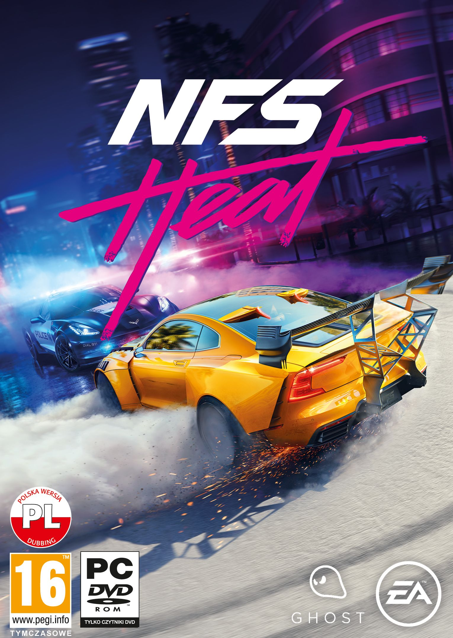 Need for Speed HEAT PC-version spēle