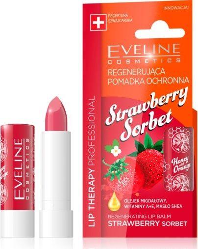 Eveline Regenerating lipstick Lip Therapy Professional Strawberry Sorbet 1pc Lūpu krāsas, zīmulis