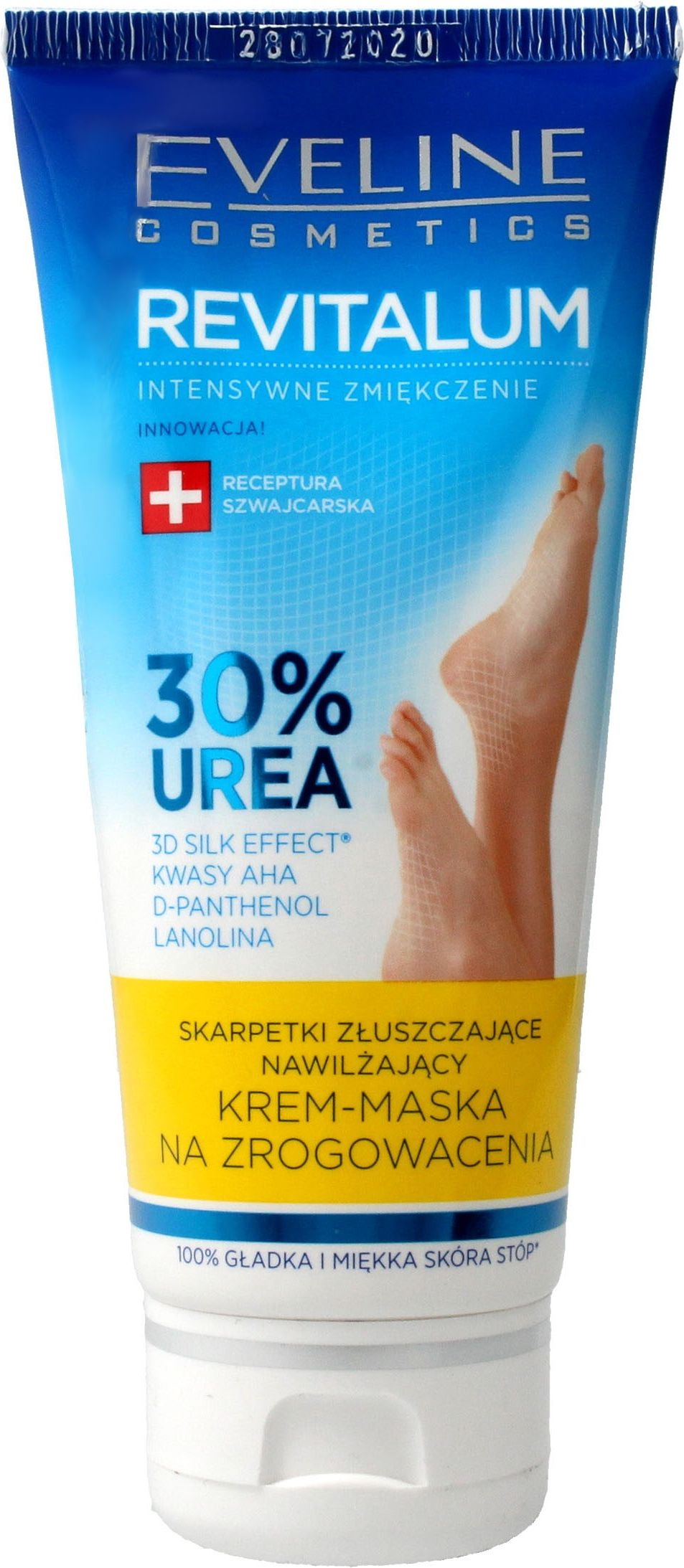 Eveline Revitalum 30% Urea Cream Cream-mask exfoliating 100ml Roku, pēdu kopšana