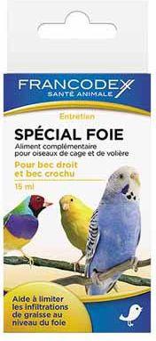 FRANCODEX Srodek dla ptakow - ochrona watroby 15 ml 1106182