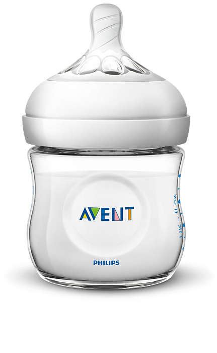 Philips Avent Natural zīdaiņu pudelīte 125 ml, jaundzimušā knupītis, 0m+ SCF030/17 bērnu barošanas pudelīte
