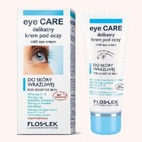 FLOSLEK Pielegnacja oczu Delikatny krem pod oczy ze swietlikiem i witamina C 30 ml 140442 ēnas