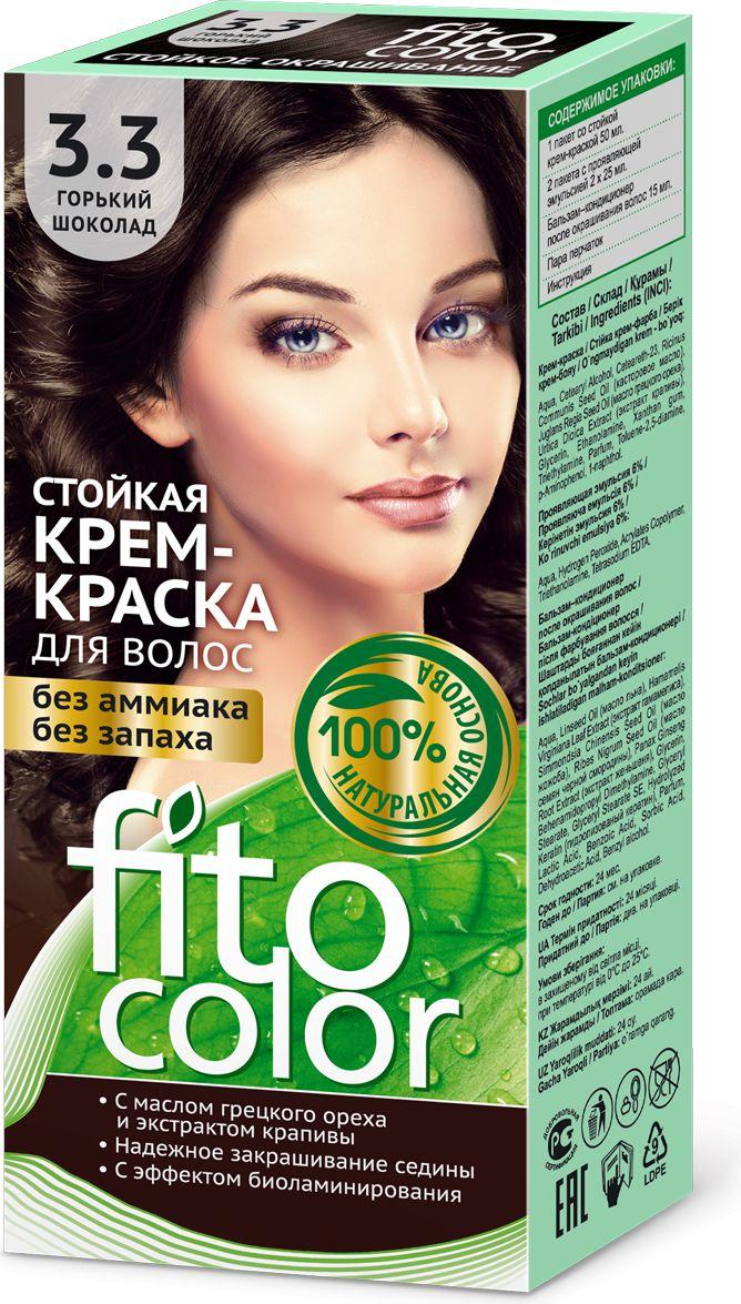 Fitocosmetics Fitocolor Farba-krem do wlosow nr 3.3 gorzka czekolada  1op. 3022341