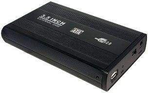 Logilink 3.5 SATA  drive case, USB 2.0  black, Aluminium piederumi cietajiem diskiem HDD