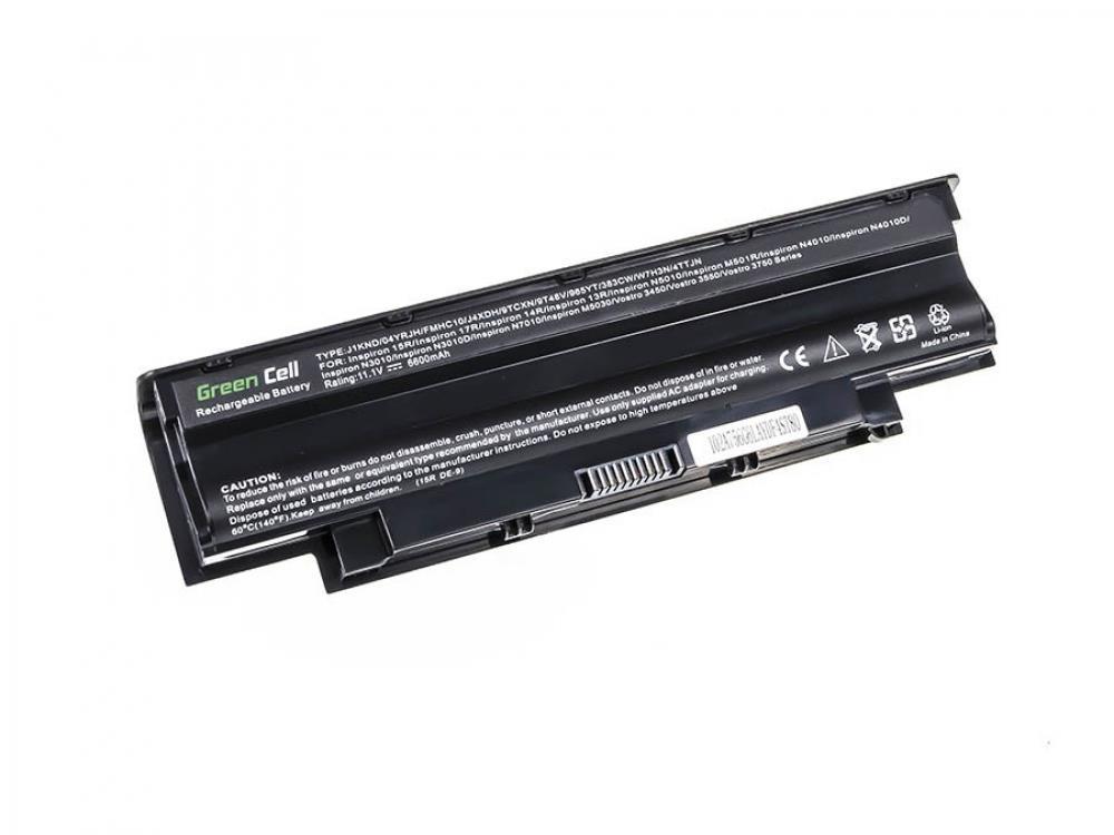 Green Cell Dell Inspiron J1KND N4010 N5010 13R 14R 15R 17R (DE02D) akumulators, baterija portatīvajiem datoriem
