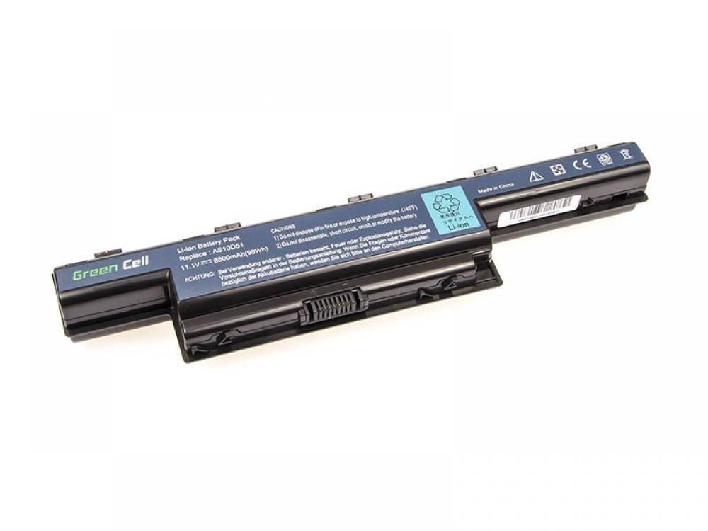 Green Cell Acer Aspire 5733 5742G 5750 5750G AS10D31 AS10D41 AS10D51 AS10D61 AS10D71 AS10D75 11.1V 12 cell (AC39) akumulators, baterija portatīvajiem datoriem