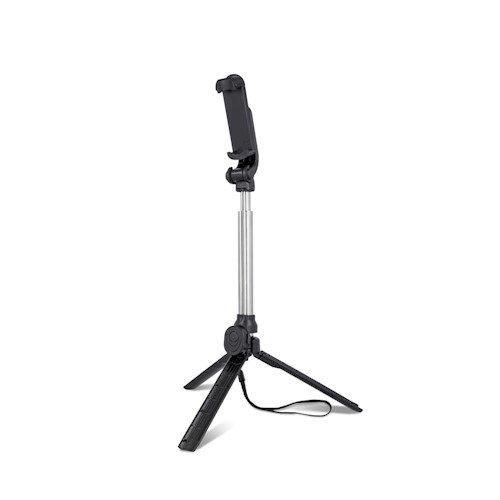 Setty Universāls Selfie Stick + Tripod Statnis ar Bluetooth Tālvadības pulti Melns Selfie Stick
