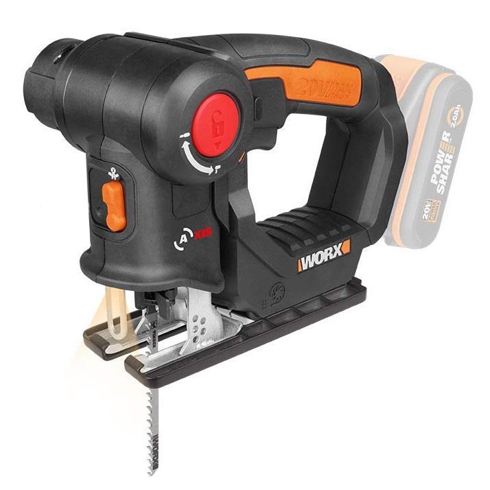 Worx WX550.9 20V 2 in 1 Cordless Multi Saw (bez akumulatora un lādētāja) Elektriskais zāģis
