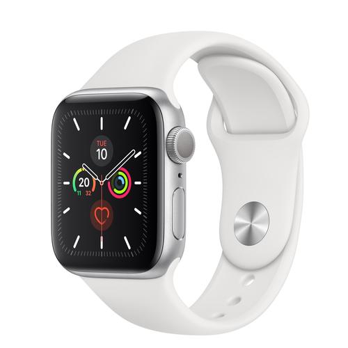 Apple Watch Series 5 GPS 40mm Silver Alu Case White Sport Band Viedais pulkstenis, smartwatch