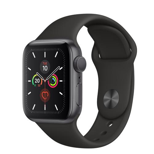 Apple Watch Series 5 GPS 40mm Gray Alu Case Black Sport Band Viedais pulkstenis, smartwatch