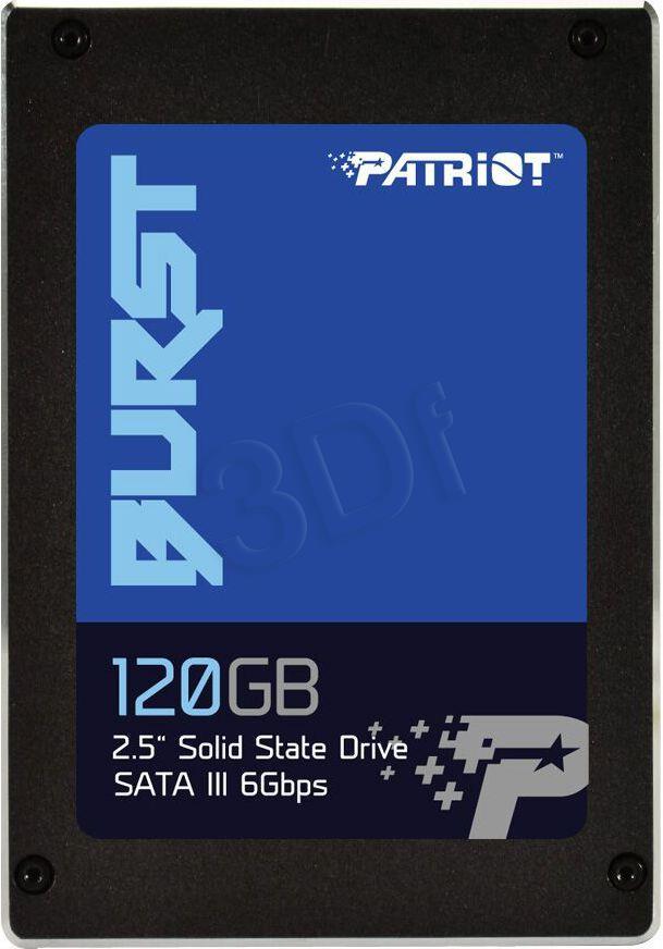 Patriot SSD Burst 120GB 2.5'' SATA III read/write 560/540 MBps, 3D NAND Flash SSD disks