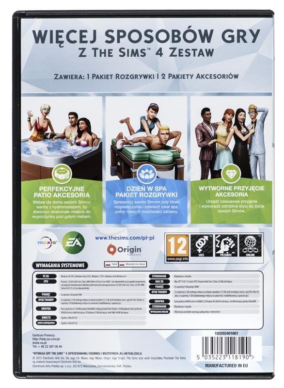 Gra PC The Sims 4 Zestaw spēle