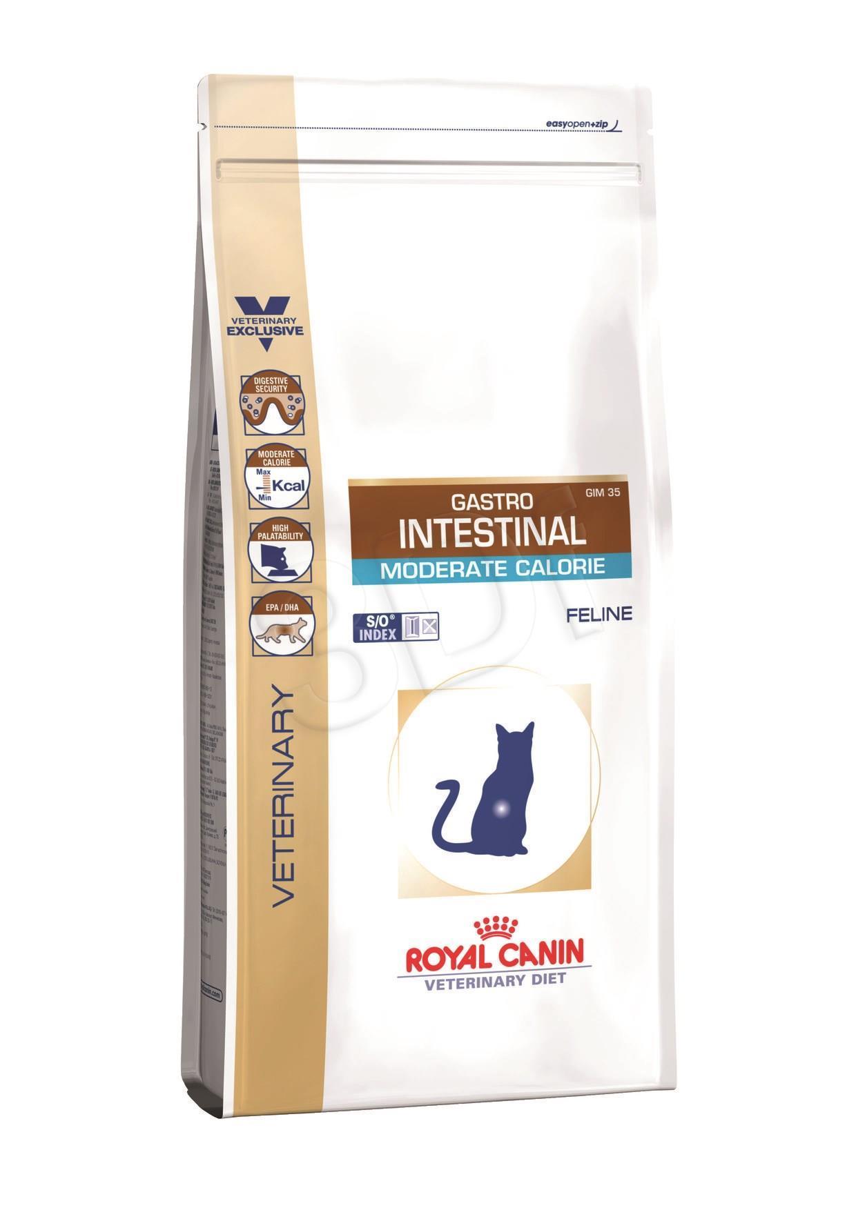 ROYAL CANIN Intestinal Gastro Moder Calorie Cat 2k kaķu barība