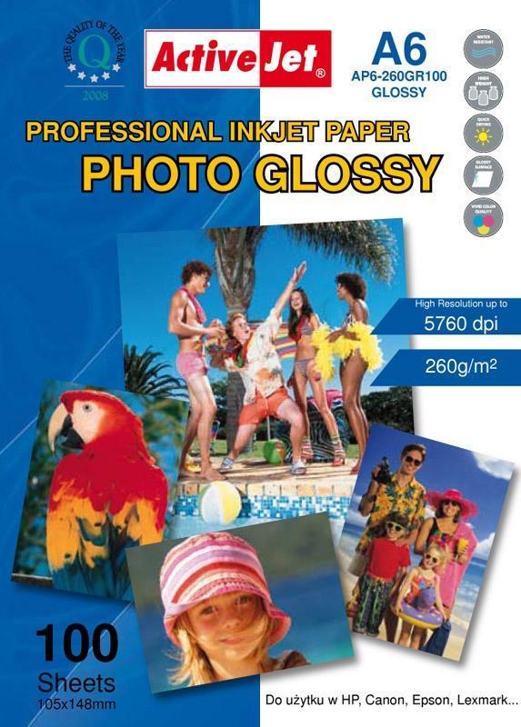 Activejet AP6-260GR100 photo paper for ink printers foto papīrs