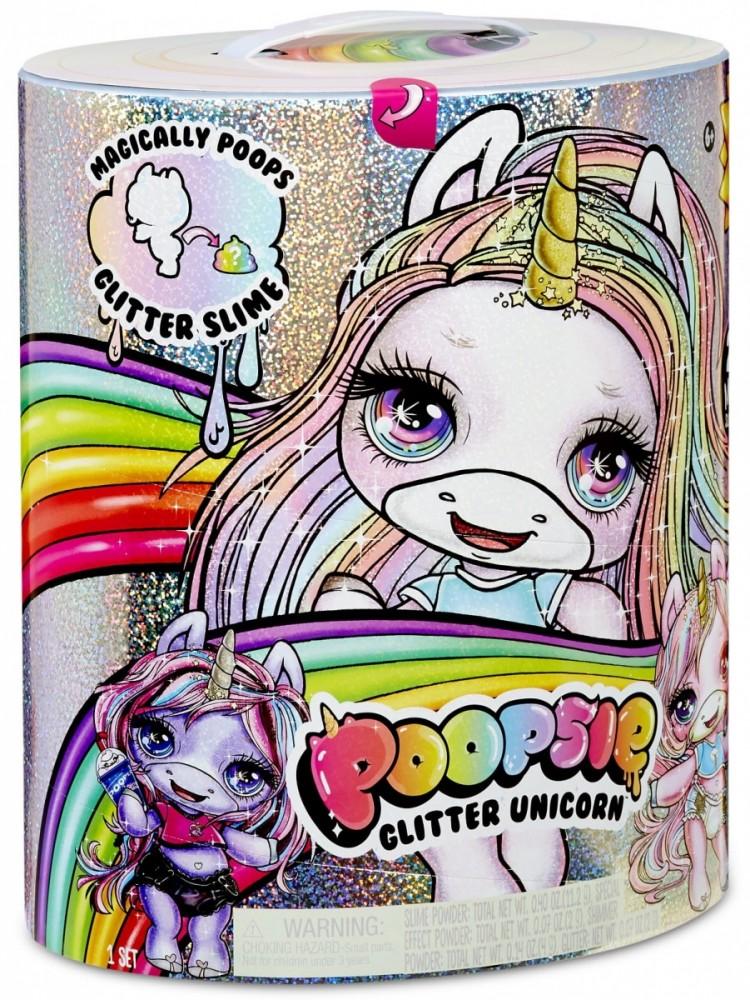 MGA Figurine, Poopsie Surprise Glitter Unicorn (pink or purple) bērnu rotaļlieta