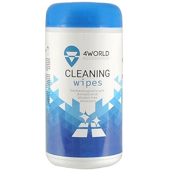 4World Cleaning wet wipes 100 pcs. Set of 24 pcs. tīrīšanas līdzeklis