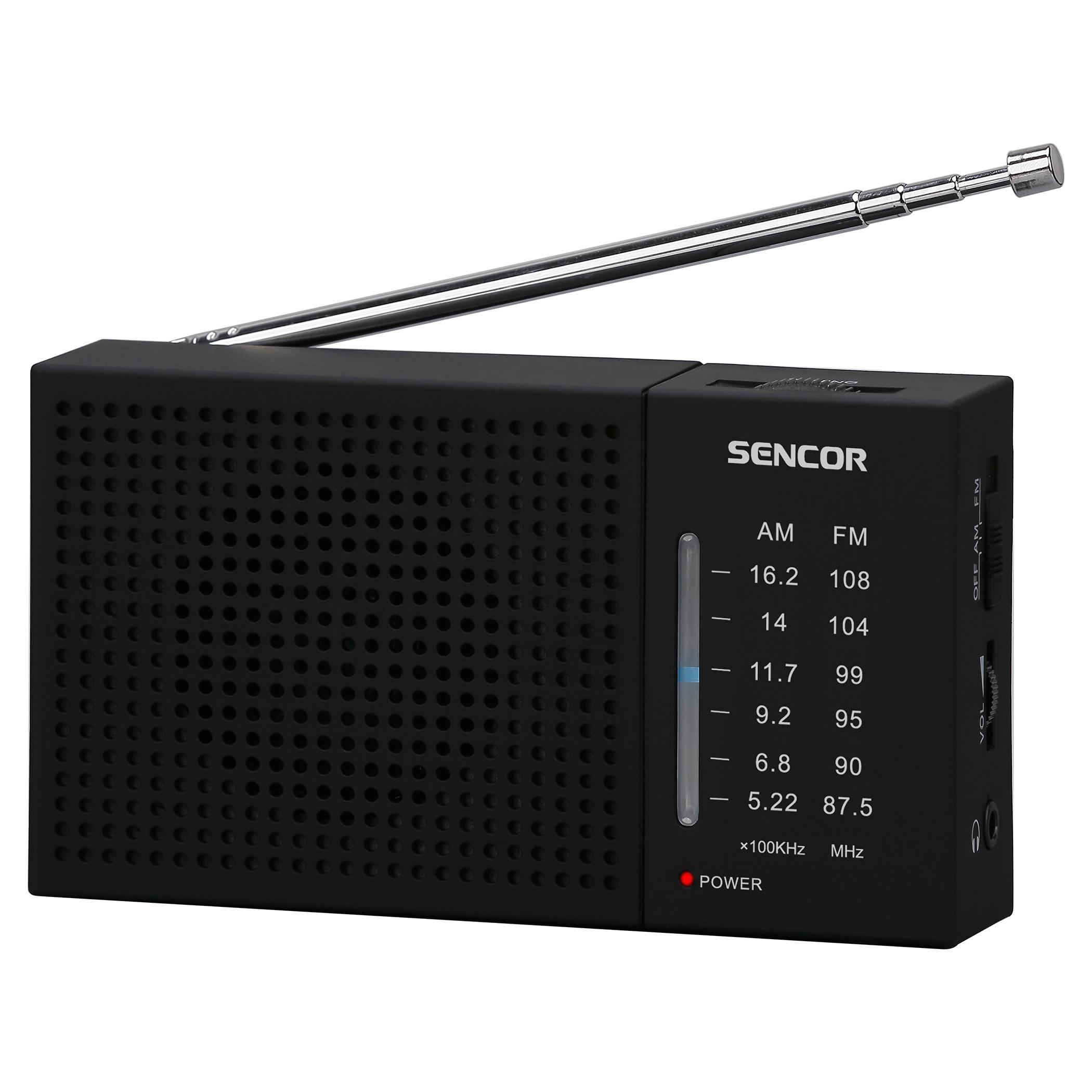 SENCOR FM/AM Radio, pārnēsājams radio, radiopulksteņi