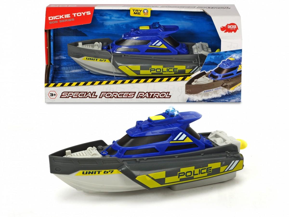 Dickie SOS boat special services 24cm Rotaļu auto un modeļi