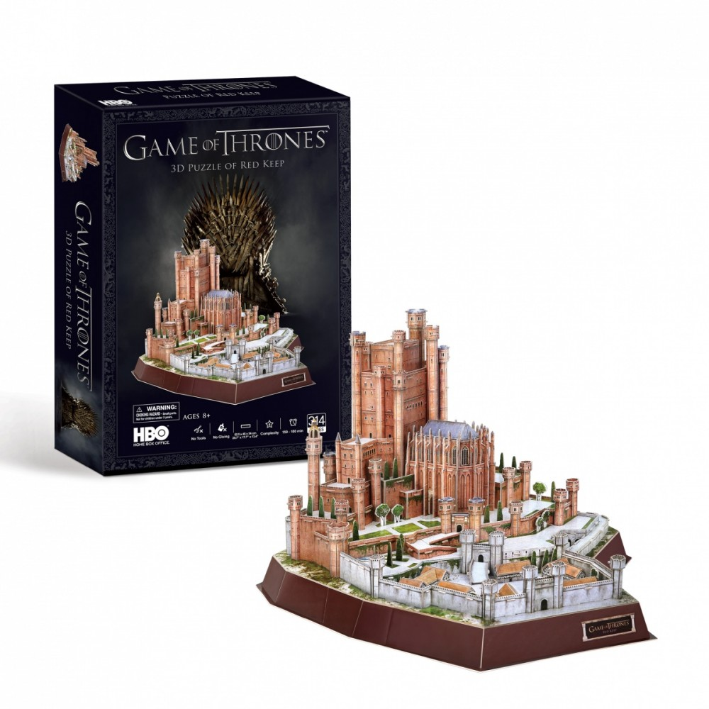 Cubicfun Puzzle 3D Game of Throness Red Keep puzle, puzzle