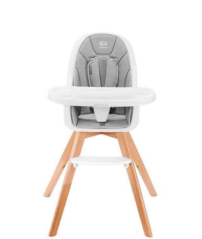 Kinderkraft 2-in-1 TIXI Gray feeding chair bērnu barošanas krēsls