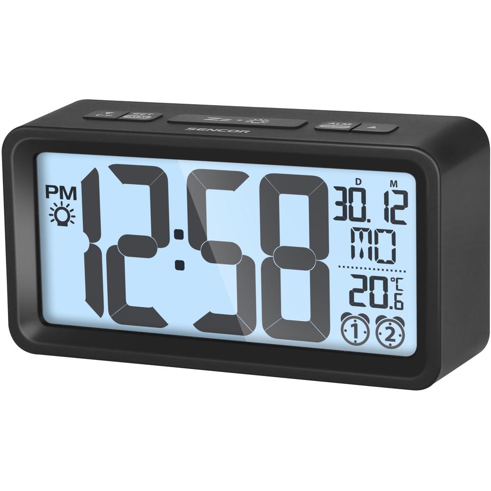 SENCOR Alarm clock with thermometer SDC 2800 black radio, radiopulksteņi