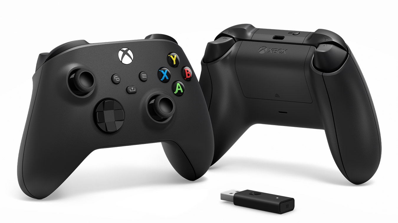 Xbox Series X Wireless Controller and Adapter for Windows 10 Black spēļu konsoles gampad