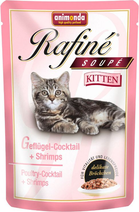 ANIMONDA SOUPE KITTEN chicken and shrimps 100g kaķu barība