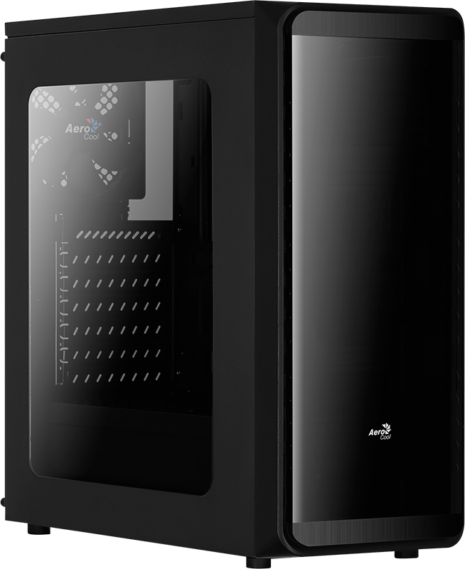 Aerocool PGS SI-5200 AEROPGS-SI-5200WBK (ATX, Micro ATX, Mini ITX; black color) Datora korpuss