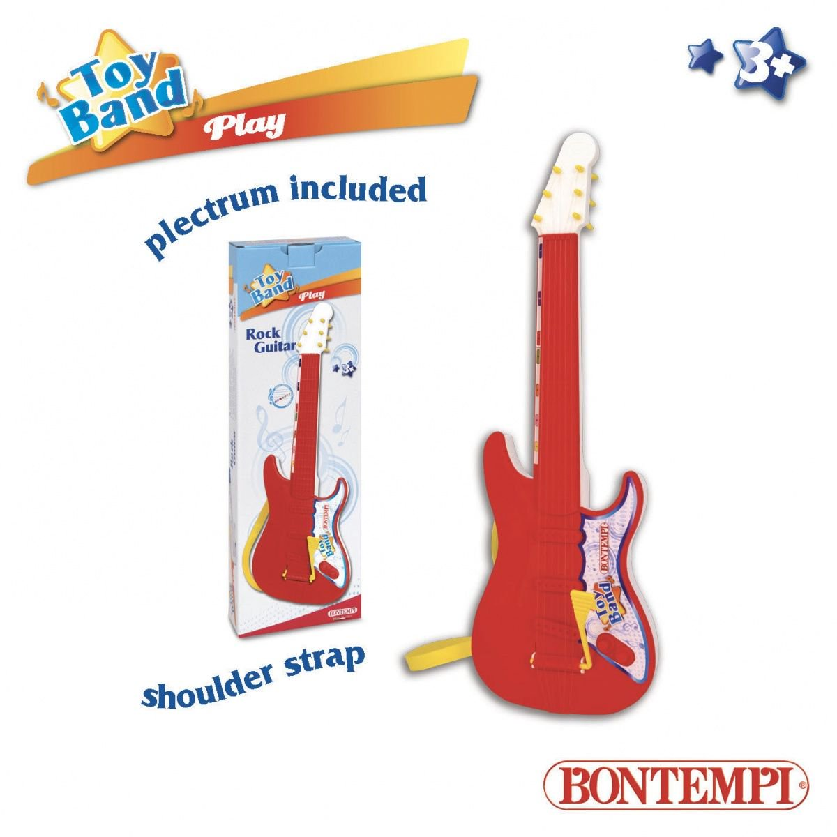Dante Bontempi Play Rock Guitar 54cm w pud. (041-12477) 041-12477