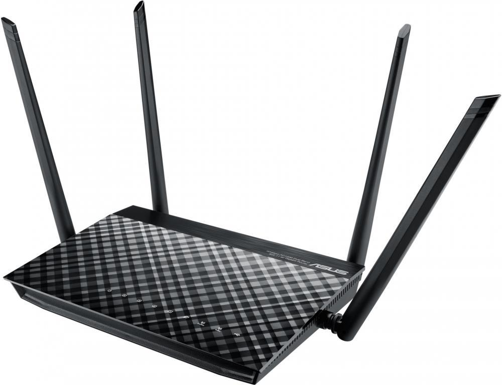 Wireless Router|ASUS|Wireless Router|1167 Mbps|IEEE 802.11ac|USB 2.0|1 WAN|4x10/100/1000M|Number of antennas 4|RT-AC57U RT-AC57U WiFi Rūteris