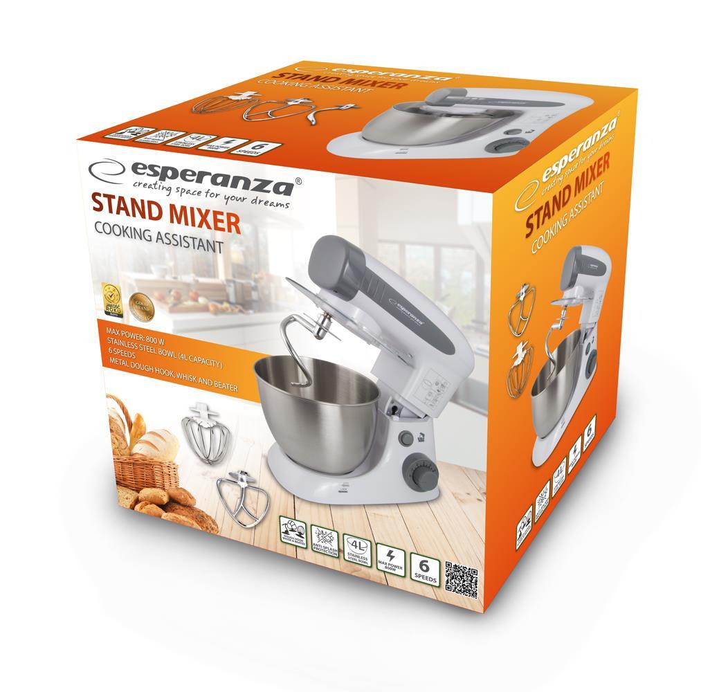 ESPERANZA EKM024 COOKING ASSISTANT - STAND MIXER 800W Virtuves kombains