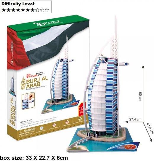 Dante 3D Puzzle Big Burjal Arab Set - (306-20101) puzle, puzzle
