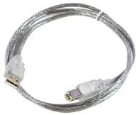 MicroConnect 9461-30-MC-T501 USB2.0 A-B 3m M-M,Transparent USB kabelis