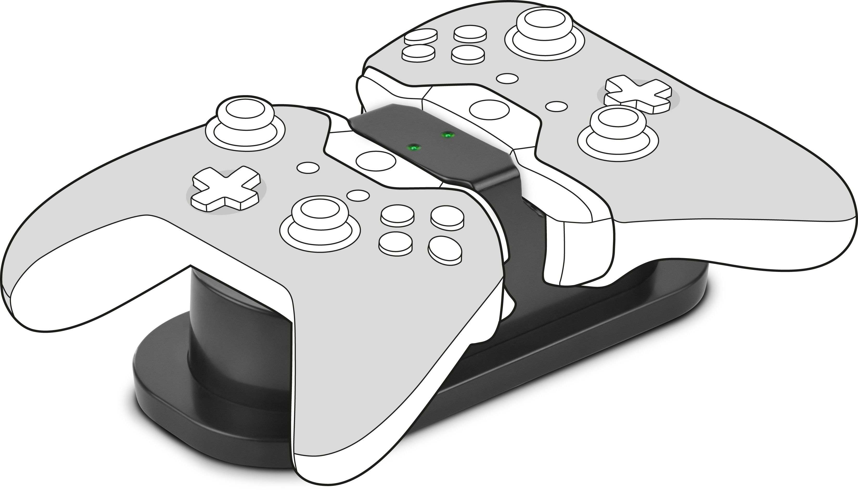 Speedlink lādētājs Twindock Xbox, melns (SL-250000-BK) 4027301511024 spēļu aksesuārs