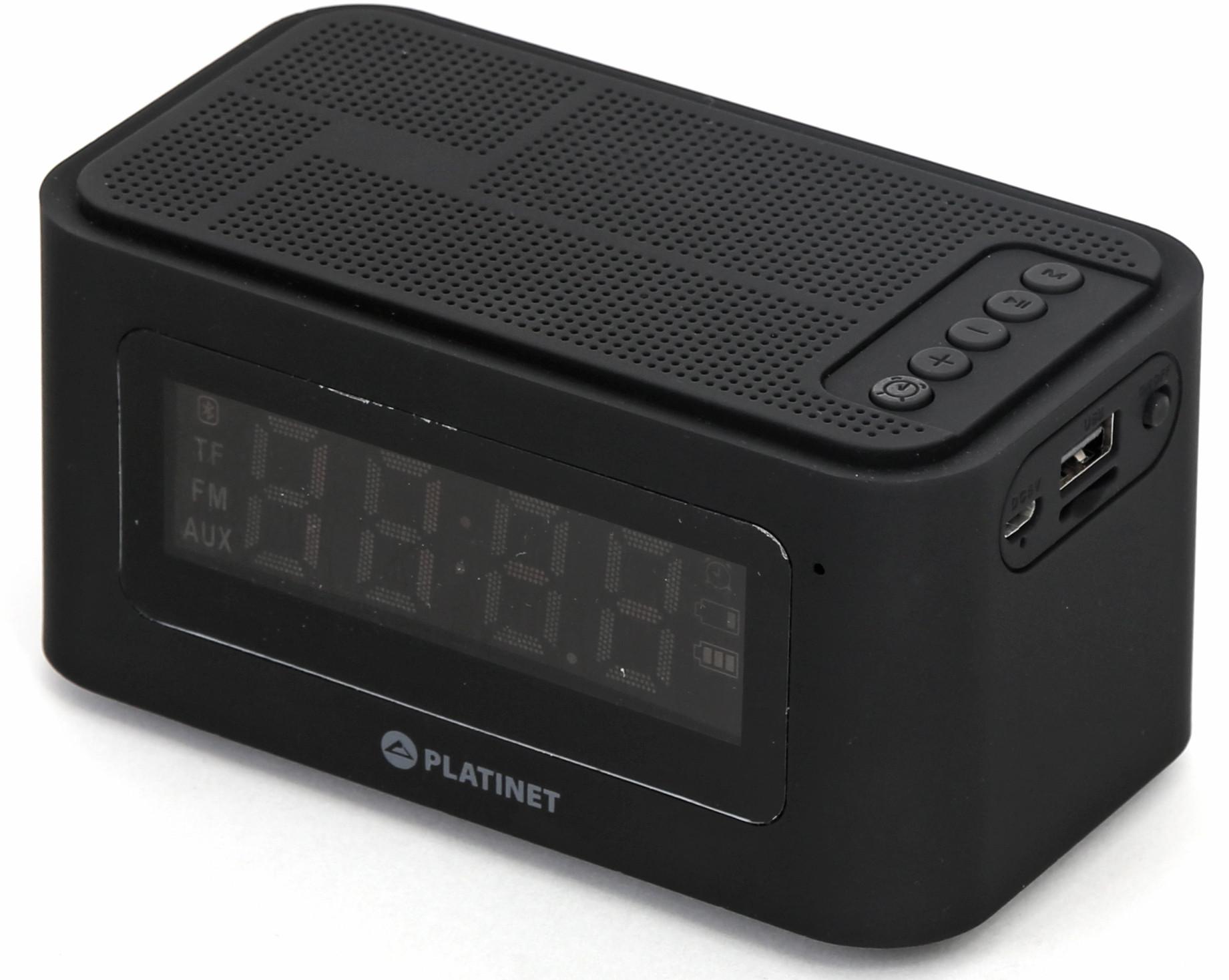 Platinet Bluetooth skaļrunis + modinātājpulkstenis 5W PMGC5B pārnēsājamais skaļrunis
