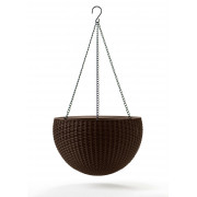 Keter Puku pods karinams Hanging Sphere Planter bruns 29199246590