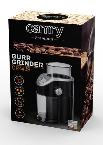 Camry CR 4439  Black-Silver Kafijas dzirnaviņas