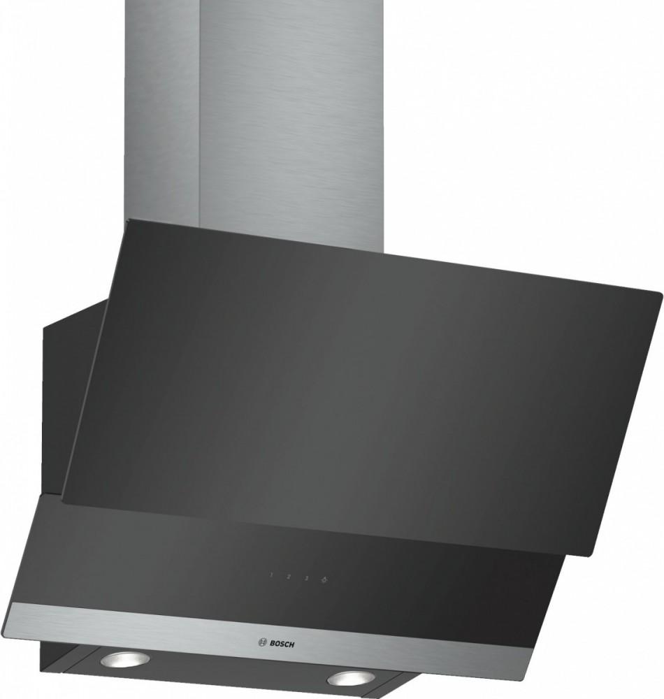 Bosch DWK065G60 cooker hood 530 m3/h Wall-mounted Black,Stainless steel Tvaika nosūcējs