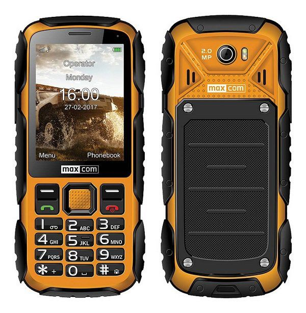 MaxCom MM920 Yellow Mobilais Telefons