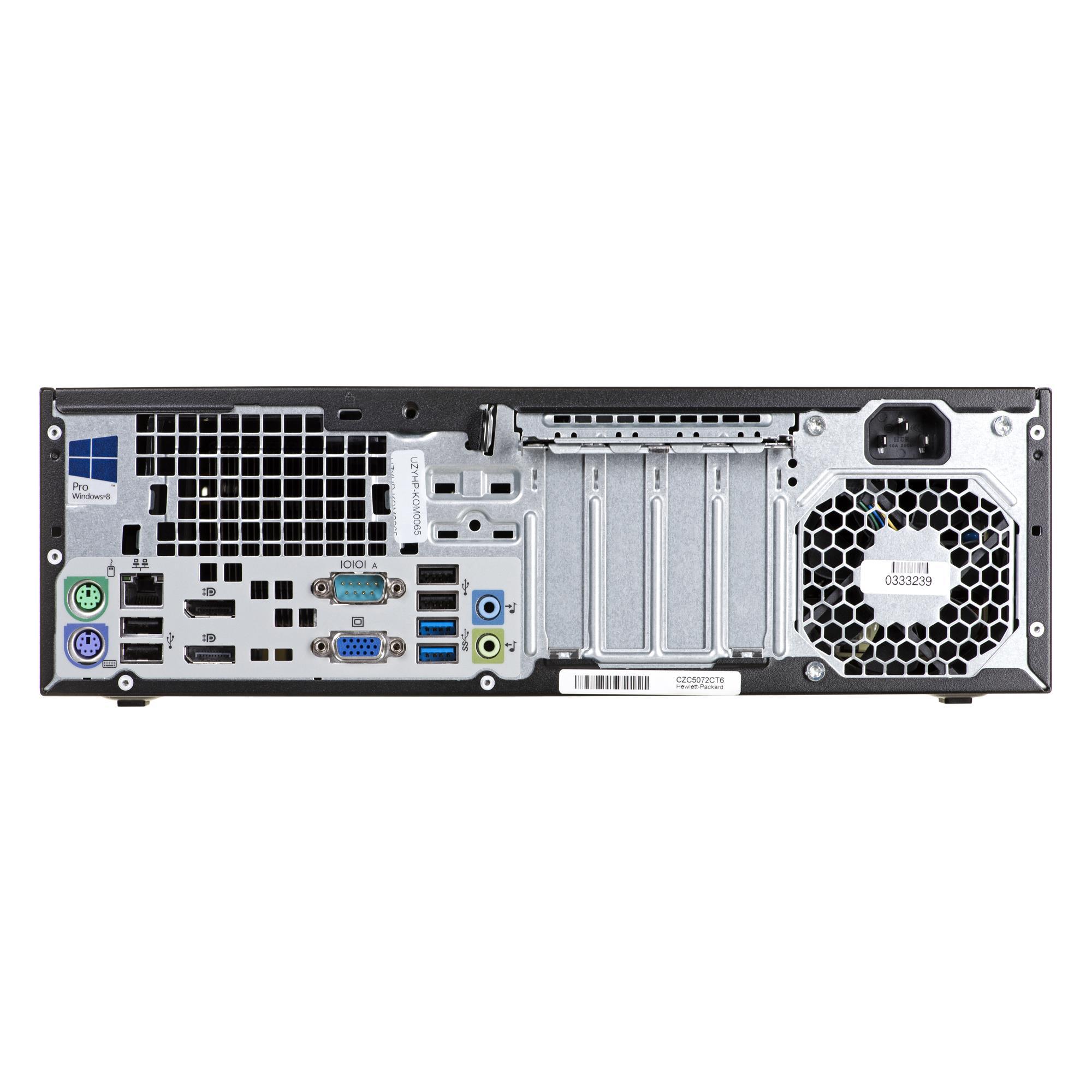 HP ELITE 800 G1 i5-4570 8GB 120GB SSD DVDRW SFF Win8Pro UZYWANY Defektīvi - neejoši datori (bez garantijas, pēc specpasūtijuma)