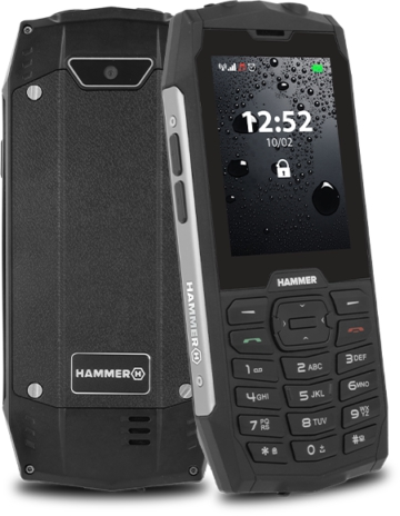 MyPhone Hammer 4 Dual silver Mobilais Telefons