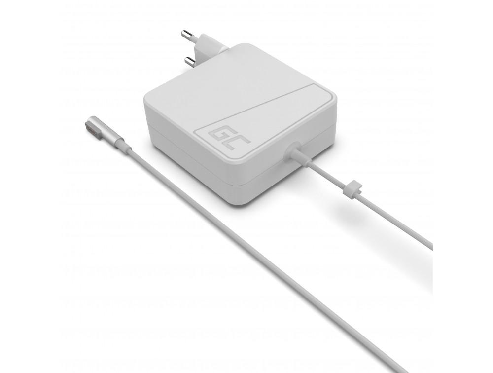 Green Cell for Apple Macbook Magsafe Power: 60W | Voltage: 16.5V | Amperage: 3.65A | Plug: 5 pin portatīvo datoru lādētājs
