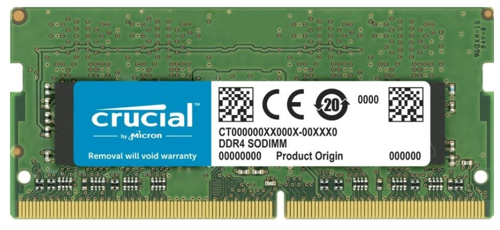 Crucial 8GB DDR4 2666 MT/s SODIMM 260pin operatīvā atmiņa