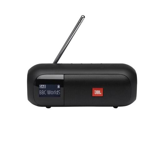 JBL radio ar bluetooth,  melns JBLTUNER2BLK pārnēsājamais skaļrunis